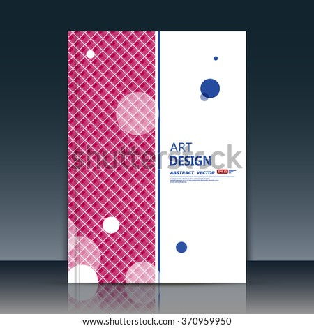 Abstract composition, circle font texture, pink stripe band, round bead part construction, white a4 brochure title sheet, creative figure icon, logo sign surface, firm banner form, flier fiber, EPS10  - stock vector