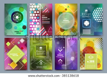 Abstract composition, colorful font texture, business card set, infographic elements collection, a4 brochure title sheet, patch part construction, creative text frame surface, figure logo icon, EPS10 - stock vector