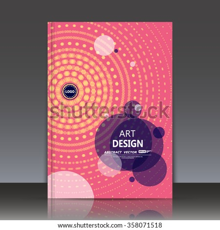 Abstract composition, dotted lines, swirl text frame surface icon, logo sign, pink a4 brochure title sheet, patent, creative figure construction, firm banner form image, fashionable EPS10 illustration - stock vector