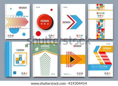 Abstract composition. Font texture. White business card set. Infograhic element collection. A4 brochure title sheet. Patch part construction. Creative text frame surface. Figure logo icon. EPS10 image - stock vector
