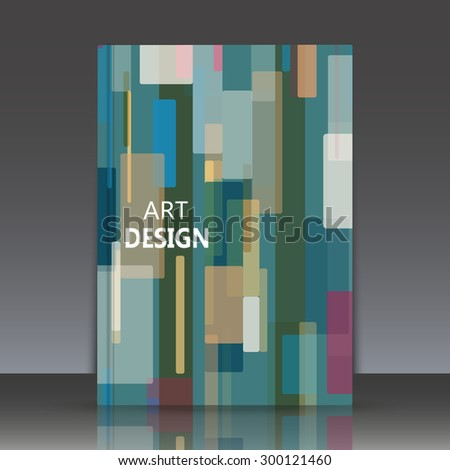 Abstract composition, geometric shapes, Brochures, background, EPS 10, vector illustration - stock vector