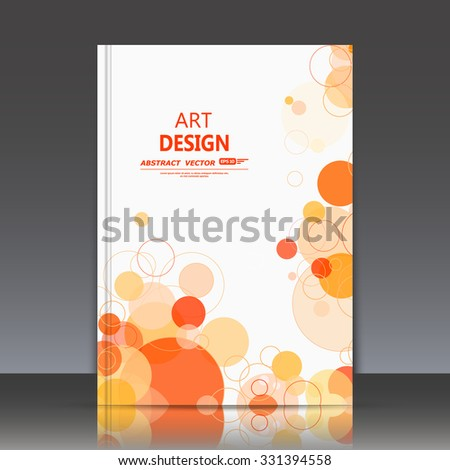 Abstract composition, geometric shapes icon, orange bubbles ornament, a4 brochure title sheet, round logo construction backdrop, business card texture surface, fashionable fiber texture, EPS10 vector - stock vector