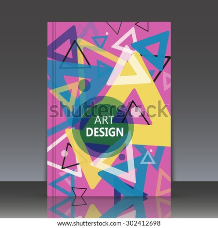 Abstract composition, geometric shapes, triangles, brochures, background. EPS 10 vector illustration