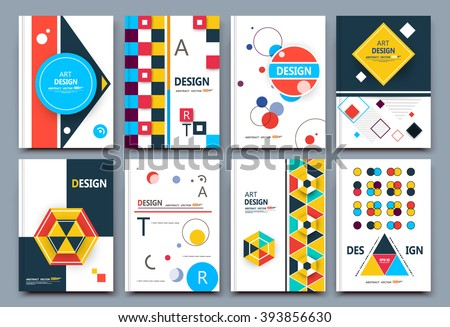Abstract composition, infographic flier font texture, business card set, elegant letters collection, a4 brochure title sheet, patch part construction, creative text frame surface, figure logo icon art - stock vector