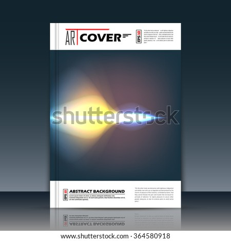Abstract composition, outer space galaxy, star ray, supersonic barrier, a4 brochure title sheet, cosmic sky icon, text frame surface, creative figure, logo sign, firm banner form, flier fashion, EPS10 - stock vector