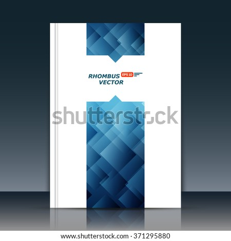 Abstract composition, quadrangle font texture, white transparent square part construction, blue a4 brochure title sheet, creative figure icon, logo sign surface, firm banner form, flier fiber, EPS10 - stock vector