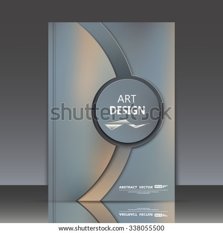 Abstract composition, red circle framework, black a4 brochure title sheet, round logo construction backdrop, business card texture surface, line emphasized firm symbol, fashio binder  - stock vector