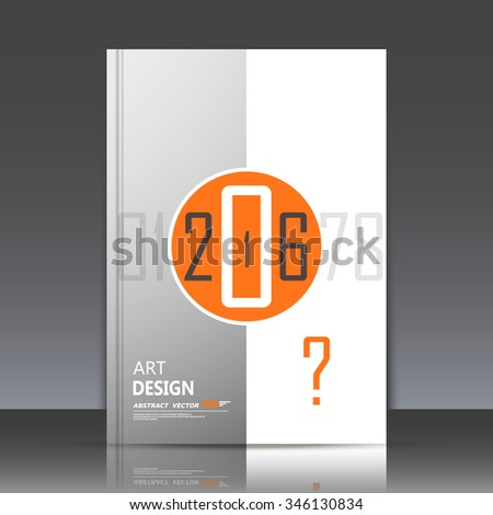 Abstract composition, round geometric shapes, orange circle construction, happy new year decoration icon, 2016, greeting card, a4 brochure title sheet, business backdrop, EPS10 illustration - stock vector