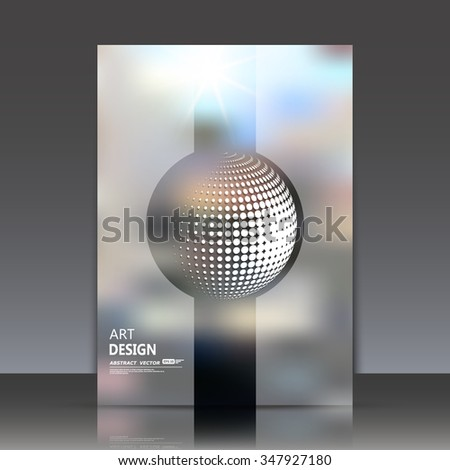 Abstract composition, transperent stripe surface, 3d sphere icon, round figure font, circle construction, a4 brochure title sheet, fashionable fibre texture, business card backdrop, EPS10 illustration - stock vector