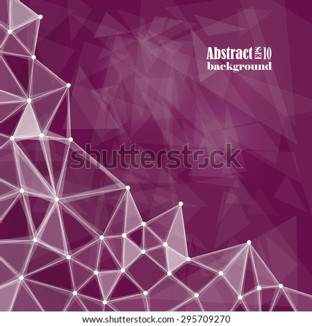 Abstract composition, triangles, burgundy, background | EPS10 vector illustration - stock vector