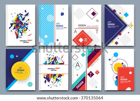 Abstract composition, white font texture, business card set, correspondence letter collection, a4 brochure title sheet, patch part construction, creative text frame surface, figure logo icon, EPS10 - stock vector
