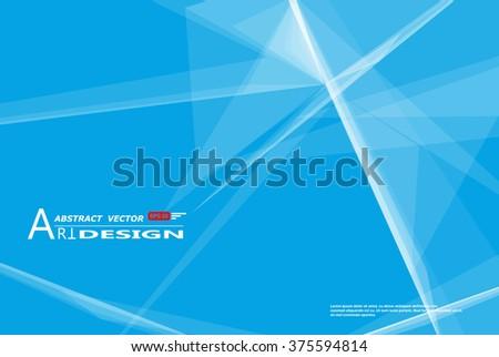 Abstract composition, white lines plexus, light rays elements icon, screen saver, blue font texture, creative banner figure, elegant surface, intro wallpaper, flyer fiber, EPS10 backdrop, vector art - stock vector