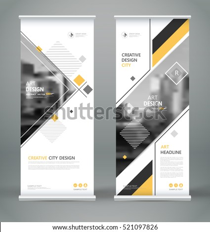 Abstract composition white roll brochure cover em vetor for Brochure front cover design