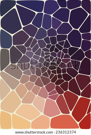 abstract composition with ceramic  geometric shapes - stock vector