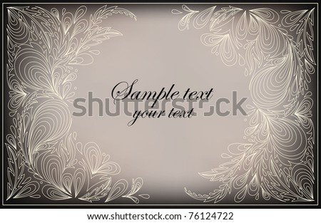 abstract composition with stylized pattern - stock vector