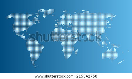Abstract computer graphic World map - stock vector