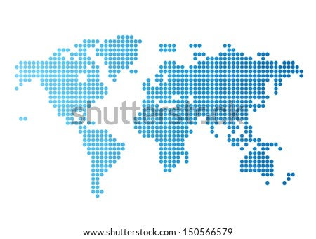 Abstract computer graphic world map blue stock vector hd royalty abstract computer graphic world map of blue round dots vector illustration gumiabroncs Gallery