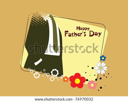 abstract concept background for father's day celebration - stock vector