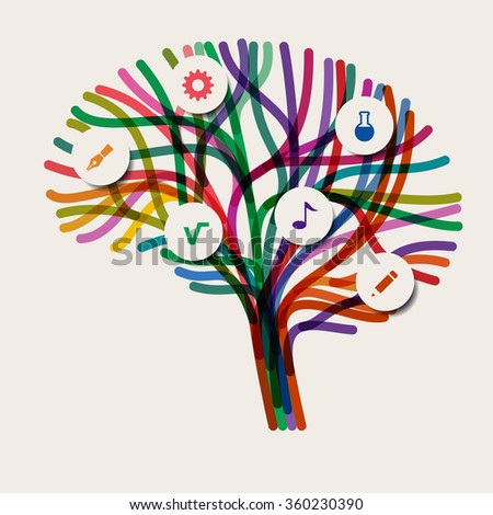 Abstract concept of the brain, eps10 vector - stock vector