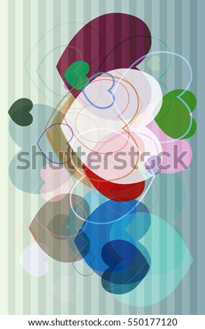 abstract conclusion at brush, representation into magical love vector background