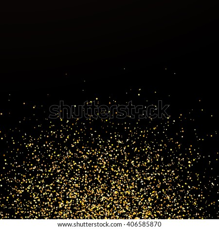 Abstract confetti background, golden confetti, round confetti pieces at the bottom - stock vector
