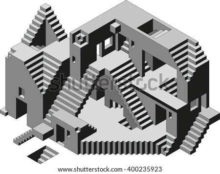 Abstract Confusion Observatory Building Vector