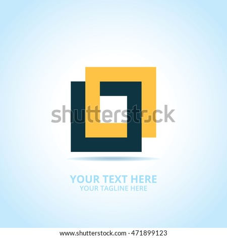 Abstract Connect logo, design concept, emblem, icon, logotype element for template.