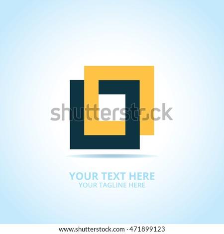 Abstract Connect Logo Design Concept Emblem Stock Vector 471899123 ...