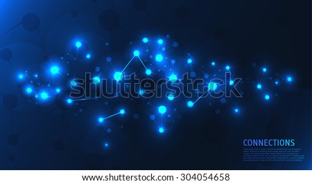 abstract connection background. Vector illustration  - stock vector
