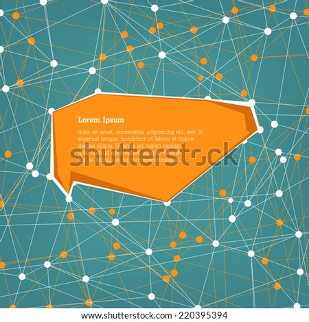 Abstract connection background with copyspace, vector  - stock vector