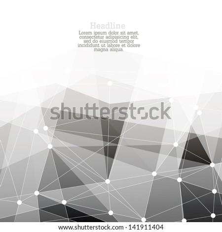 Abstract connections background with space for text. Vector. - stock vector