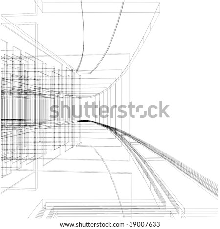 Abstract Construction Of The Line Vector 05 - stock vector