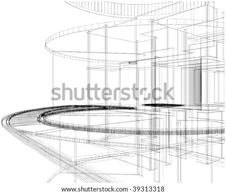Abstract Construction Of The Line Vector 18 - stock vector