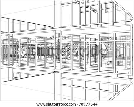 Abstract Construction Vector 224 - stock vector