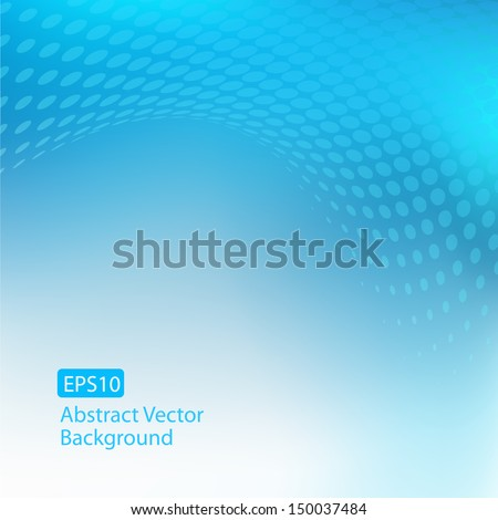 Abstract cool blue EPS10 background with plenty of copy space. - stock vector
