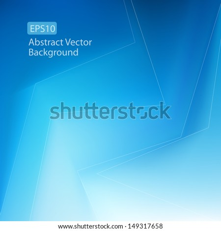 Abstract cool blue EPS10 vector background. Perfect for Healthcare, Financial and Technology Businesses. Plenty of copy space. - stock vector