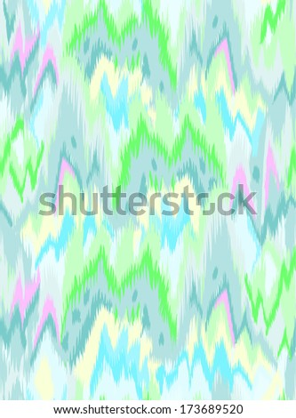 abstract cool ikat wave ~ seamless background - stock vector