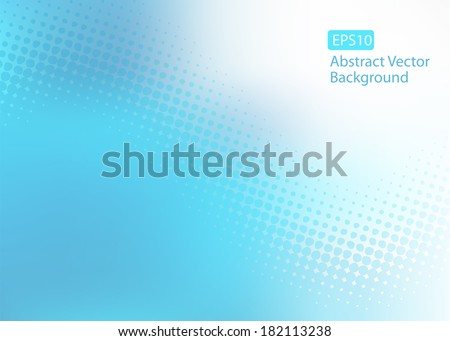 Abstract cool soft blue EPS10 dot swirl medical or business background with plenty of copy space.  - stock vector