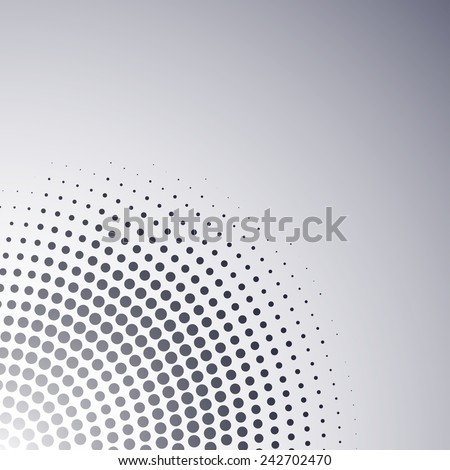 Abstract corner dotted background - stock vector