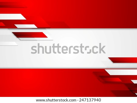Abstract corporate geometric tech background. Vector illustration - stock vector