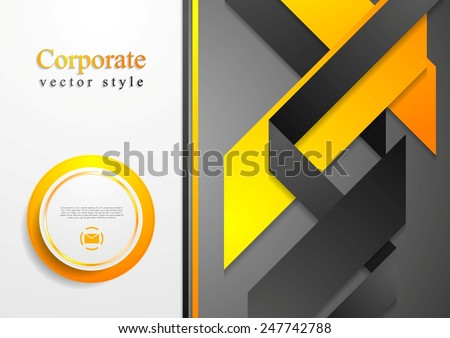 Abstract corporate tech flyer design. Vector background - stock vector