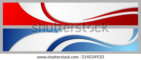Abstract corporate waves bright banners. Vector design - stock vector
