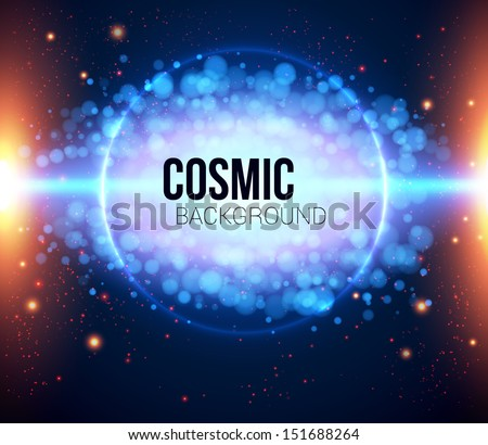 Abstract cosmic light background. Vector image. - stock vector