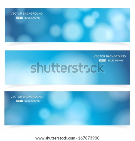 Abstract cover blue background, vector banners set. - stock vector