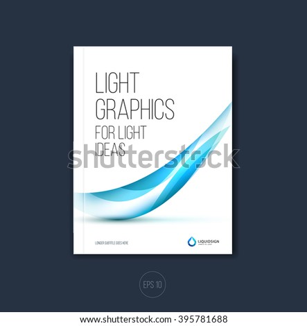 Abstract Business Brochure Flyer Design A Stock Vector