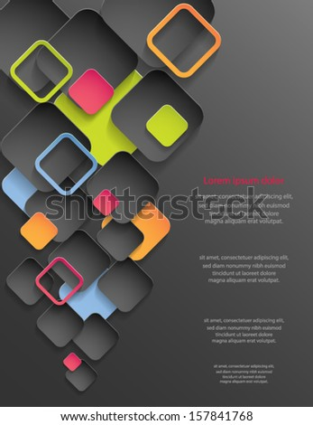 Abstract cover design. Vector eps10 background. - stock vector