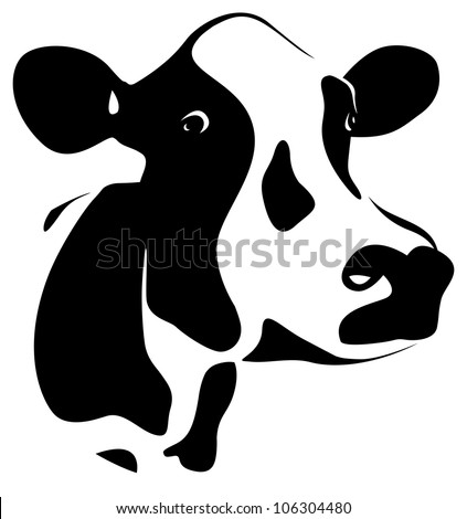 abstract cows head - stock vector