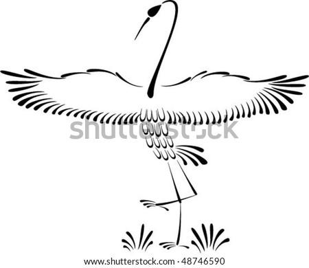 Abstract  crane - stock vector