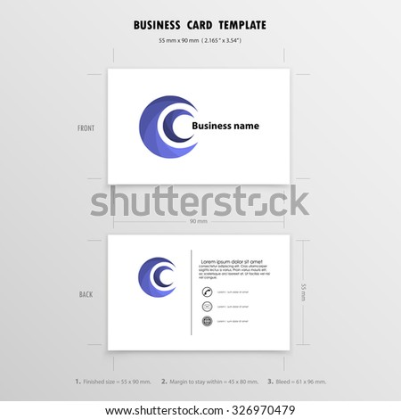 Abstract creative business cards design template stock vector hd abstract creative business cards design template name cards symbol size 55 mm x 90 reheart Image collections