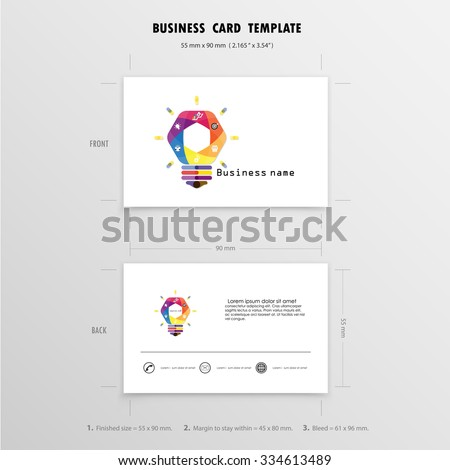 Abstract creative business cards design template stock photo photo abstract creative business cards design template name cards symbol size 55 mm x 90 reheart Image collections